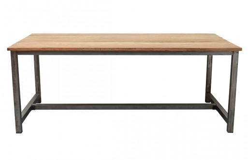 Tisch Boston - Vintage Natur - Massivholz - Eisengestell - 1
